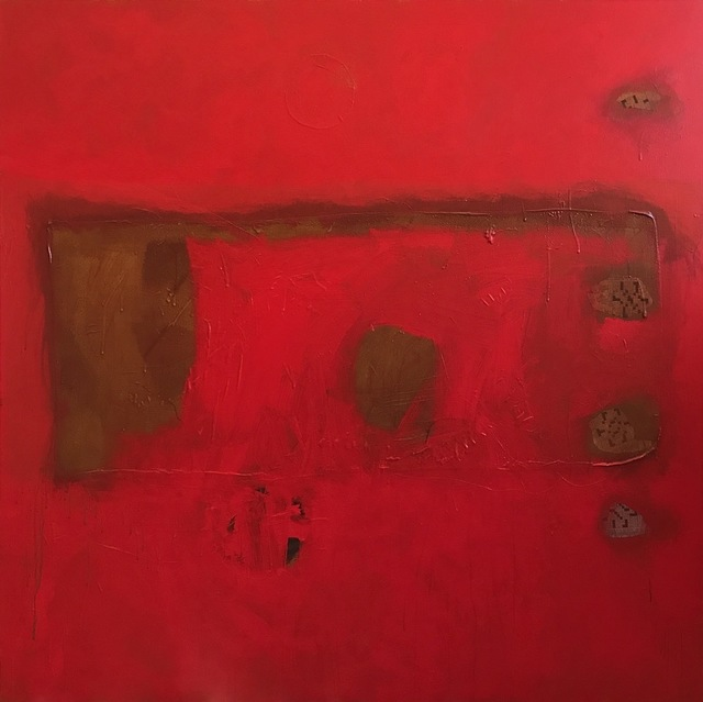 , 'Layered Red,' 2019, ÆRENA Galleries and Gardens