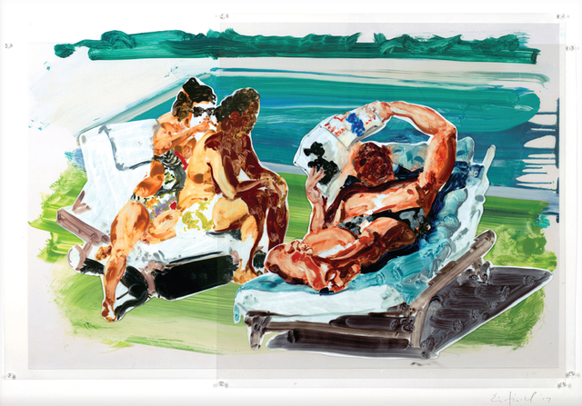 , 'Untitled (Poolside Loungers),' 2017, Sims Reed Gallery