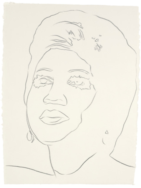 Andy Warhol, 'Aretha Franklin', ca. 1986, Drawing, Collage or other Work on Paper, Graphite on HMP Paper, Hedges Projects