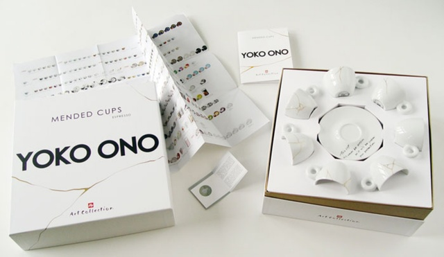 Yoko Ono, 'Suite of Seven (7) Unbroken Teacups and Saucers', 2015, Design/Decorative Art, Ceramic teacups and saucers. New in sealed (never opened) box., Alpha 137 Gallery
