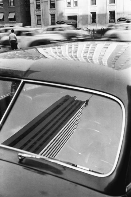 Werner Bischof, 'Reflection in car windshield, New York, USA', 1953, David Hill Gallery