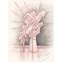 """New Jersey Transit sculptural proposal no. 1 for """"Zenith,"""" Rochester, NY"""