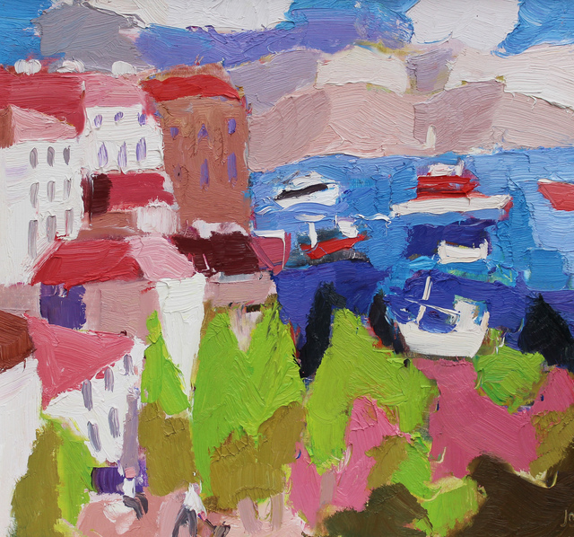 , 'Corfu Port from the Old Town,' 2018, Sladers Yard