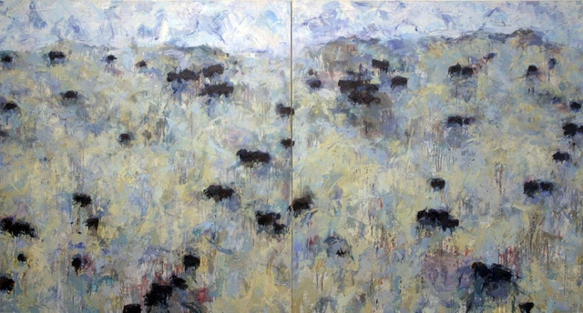 Theodore Waddell, 'Vincent's Angus #4', 1995, Painting, Oil and encaustic on canvas, Gerald Peters Gallery