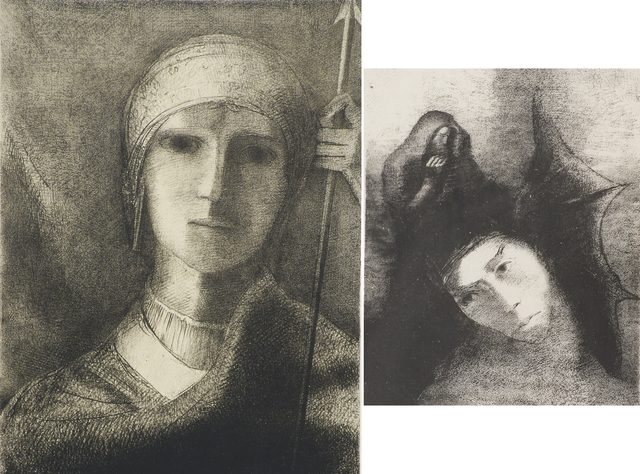 Odilon Redon, 'Two works of art: Parsifal; Untitled from La Tentation de Saint Antoine', Rago