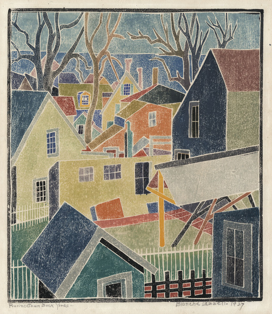 , 'Provincetown Back Yards.,' 1927, The Old Print Shop, Inc.