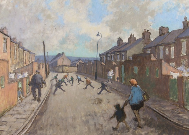 Norman Cornish, 'Children Playing', ca. 1975, Castlegate House Gallery