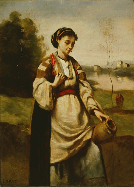 Jean-Baptiste-Camille Corot, 'Woman with Water Jar', Date unknown, Phillips Collection