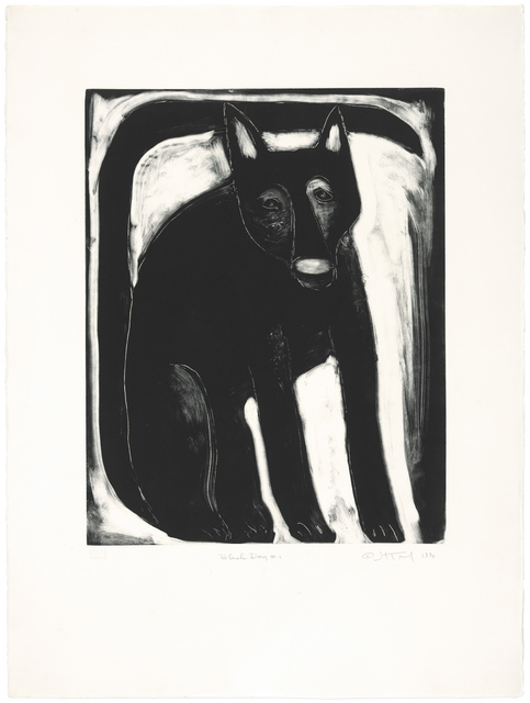 , 'Black Dog #1,' 1990, Gallery NAGA