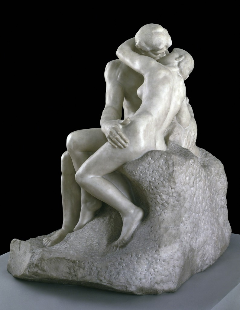 "Auguste RODIN ""The Kiss"", 1901–4, Pentelican marble, Purchased with assistance from the Art Fund and public contributions 1953 