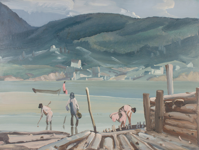 , 'Clam Diggers at Chaleur Bay,' ca. 1943, WOLFS