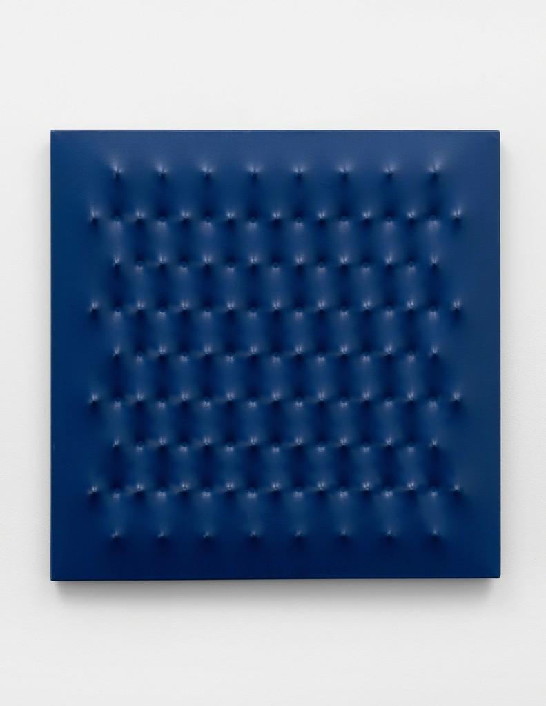 Enrico Castellani, 'Superficie blu no. 30', 1965