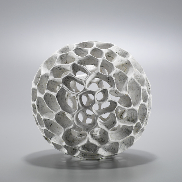 , 'White Cellular Sphere,' 2017, LACOSTE / KEANE GALLERY