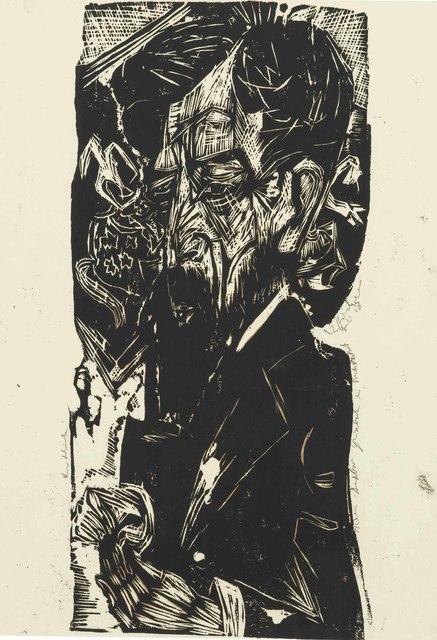 Ernst Ludwig Kirchner, 'Portrait of Willem van Vloten', 1918, Christie's
