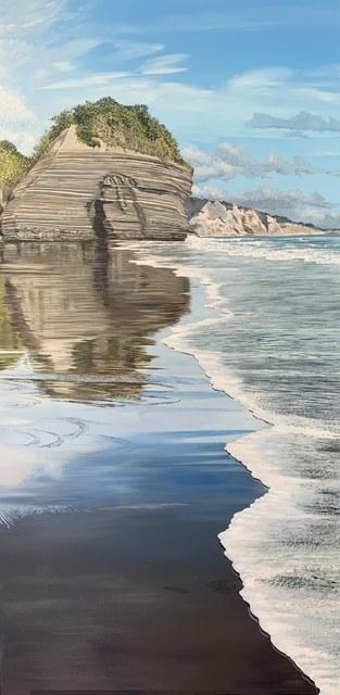 Phil Hanson, 'Taranaki Coastal Reflections', 2021, Painting, Oil on Canvas, Black Door Gallery