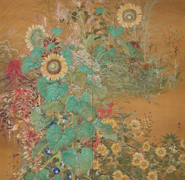 , 'Two-Panel Screen with Flowers of the Summer (T-4102),' Ca 1930, Erik Thomsen