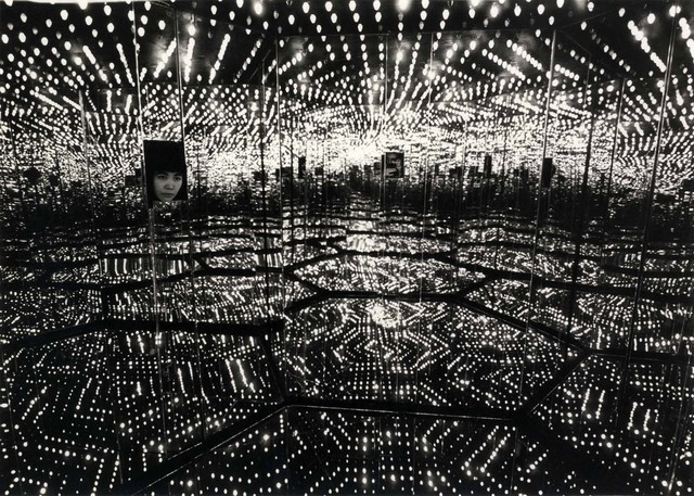 """, 'Kusama's """"Peep Show"""" or """"Endless Love Show,"""" March 29, 1966, Castellane Gallery, NYC,' 1966, Laurence Miller Gallery"""