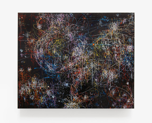 , 'blow up 279 - the long goodbye - subatomic decay patterns and the Orion Nebula,' 2015, Von Lintel Gallery