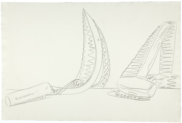 Andy Warhol, 'Hammer and Sickle', 1977, Drawing, Collage or other Work on Paper, Graphite on paper, Christie's Warhol Sale