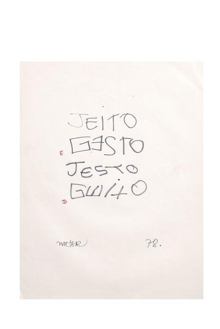 , 'Jeito & Gesto (exercicios motores),' 1978, Baró Galeria