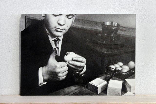 ", 'Postcards to C: Piero Manzoni's ""Uova con impronta, 1960"",' 2017, Josée Bienvenu"