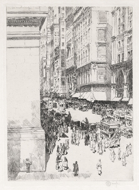 , 'Fifth Avenue, Noon.,' 1916, The Old Print Shop, Inc.