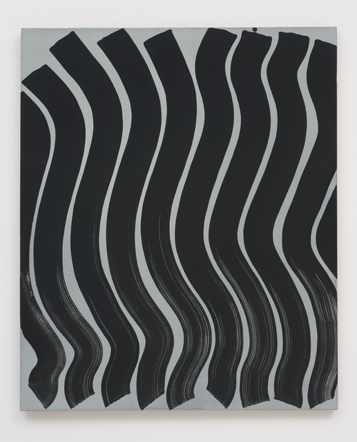 , 'Untitled (Strokes, Black on Grey),' 2013, Roberts & Tilton