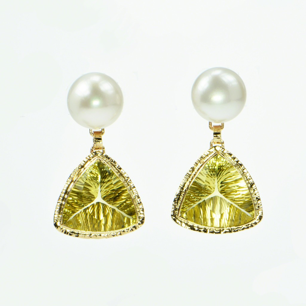 yellow yurman citrine gold earrings bhp double stone drop lemon ebay david