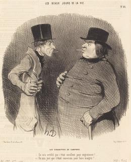 Honoré Daumier, 'Les Cigarettes de camphre', 1845, National Gallery of Art, Washington, D.C.