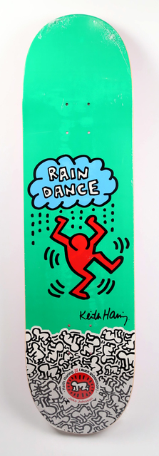 Keith Haring, 'Keith Haring Rain Dance skateboard deck ', ca. 2012, Lot 180