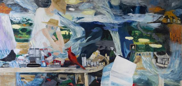 , 'Mon pere 2017 / Oel auf Jute 120 x 250 cm,' 2017, LICHT FELD Gallery