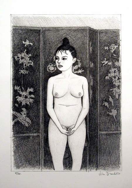 , '(Standing Nude, with screen),' 1982, Charles Nodrum Gallery