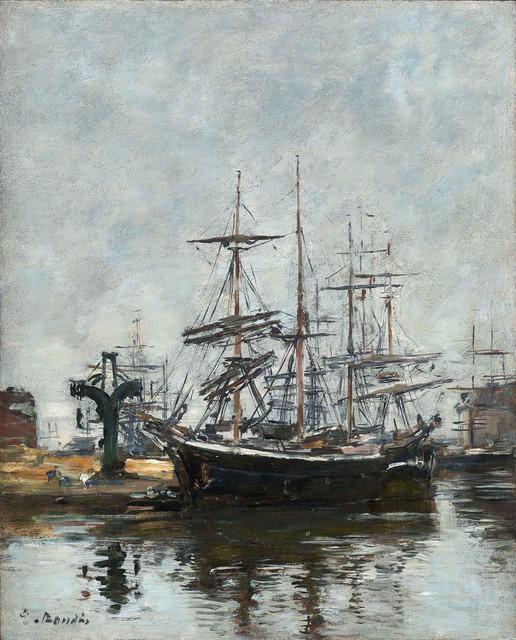 , 'Le Havre, voiliers à quai, bassin de la Barre,' 1885-1890, Stoppenbach & Delestre