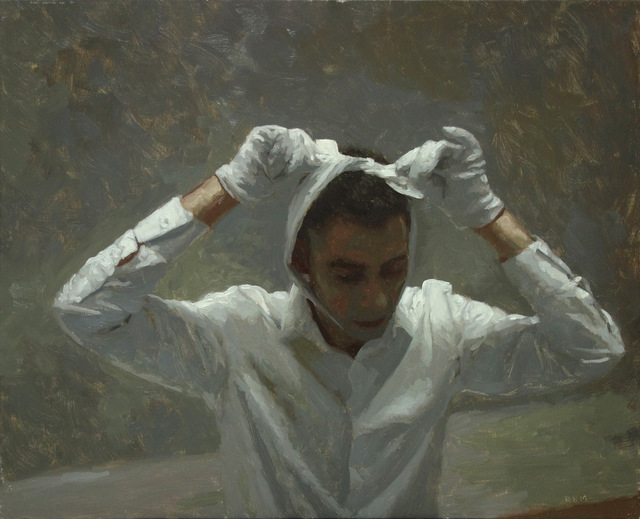 , 'Man With White Ribbon,' 2017, KIRK Gallery