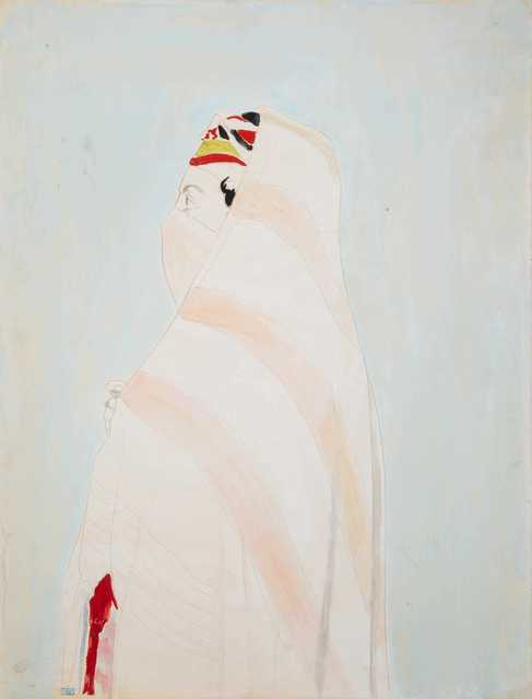 Joseph Stella, 'Algerian Woman in Veil', Unknown, Drawing, Collage or other Work on Paper, Watercolor and pencil on paper, Puccio Fine Art