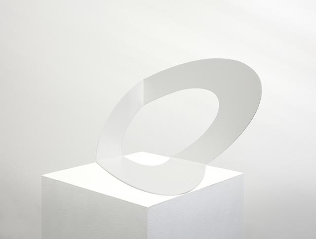 , 'Ellipse blanche,' 2018, Buchmann Galerie Lugano