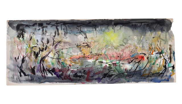 Joseph J. Meert, 'Abstract Landscape #15', ca. 1950, Painting, Watercolor and ink on paper, Aaron Galleries