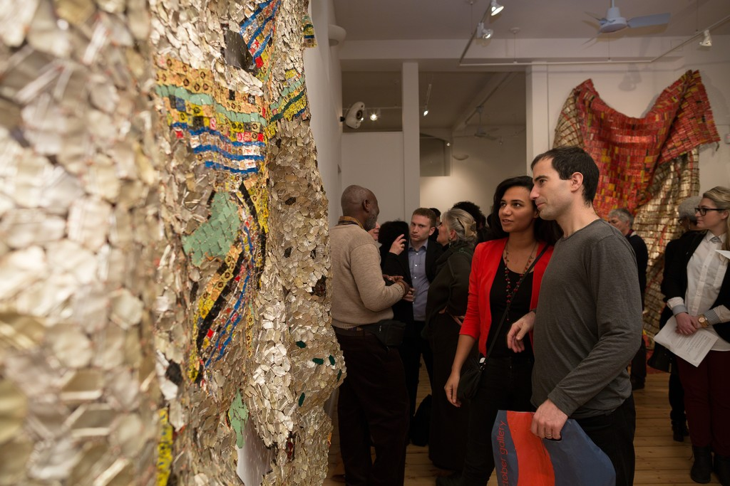 El Anatsui Opening  at October Gallery 2015