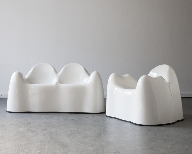 ", '""Molar Group"" settee and lounge chair,' 1969, R & Company"