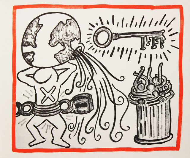 street media net lithography keith haring
