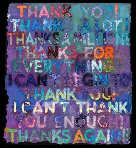 , 'Thank You ,' 2018, Maddox Gallery