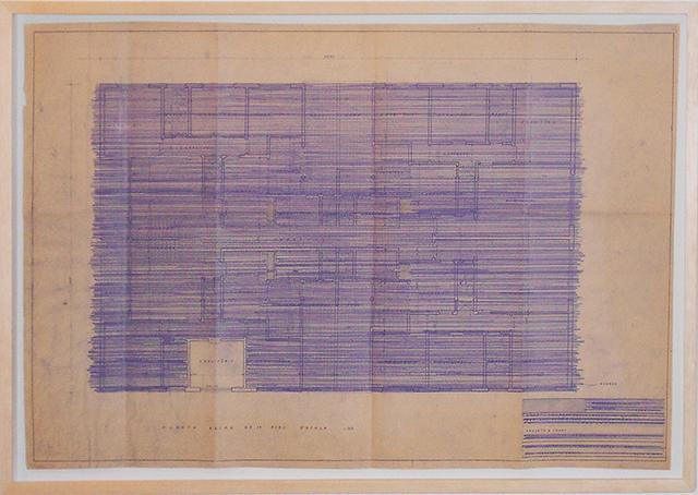 , 'Um quarto (plan), from the installation Dois quartos,' 2015, Galeria Jaqueline Martins
