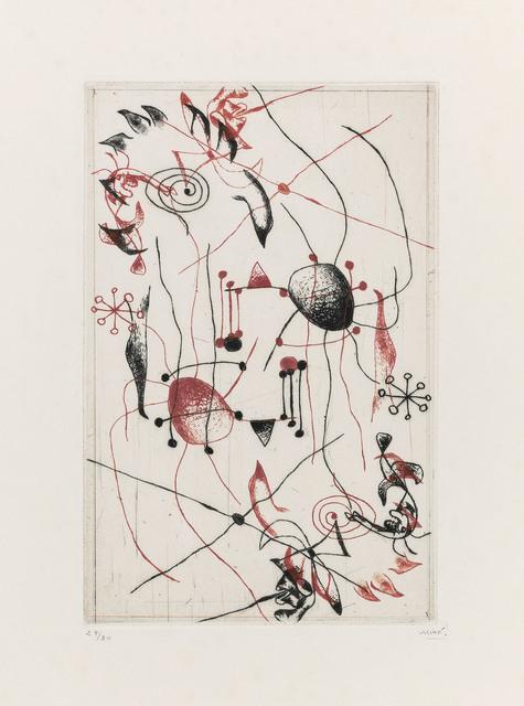 Joan Miró, 'Série Noire et Rouge: one plate', 1938, Christie's
