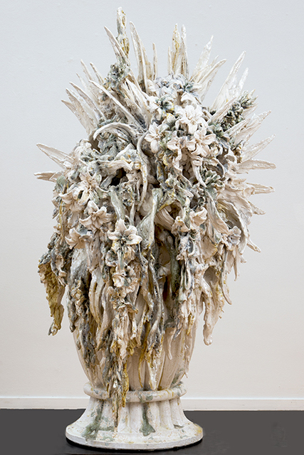 , 'Attempted decadence (blossoms, large silver),' 2013, Suzanne Tarasieve