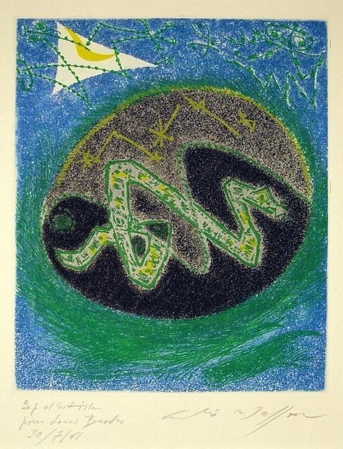 André Masson, 'Blue Serpent', 1957, Harris Schrank Fine Prints
