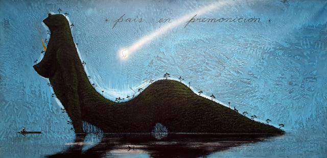 José Bedia, 'País en premonición', 2019, Galería Artizar