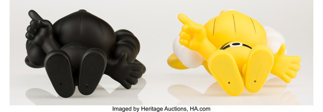 KAWS, 'JPP (Yellow and Black) (two works)', 2008, Other, Painted cast vinyl, Heritage Auctions