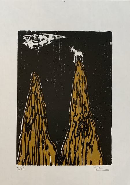 Declan Jenkins, 'The Goat', 2019, Print, Woodcut, Sims Reed Gallery