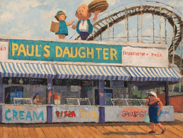 Silas Borsos, 'Early Morning on the Boardwalk (Paul's Daughter)', 2019, Paul Thiebaud Gallery