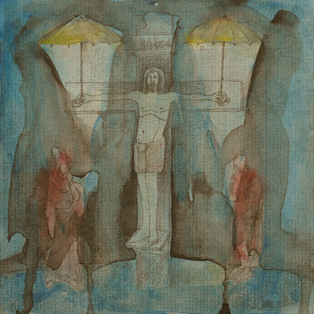 ", 'Drawing #47 from the cycle of 150 drawings ""Crucifixion for the Fisherman"",' 1991-1992, SARIEV Contemporary"